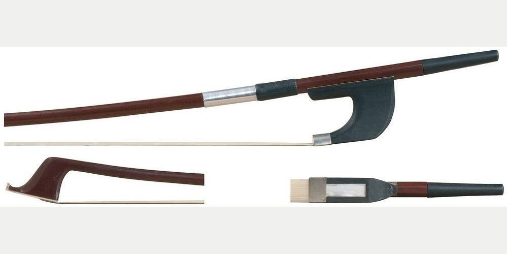 GEWA Bassbogen 1/8 Brasilholz deutsches Modell, runde Stange, Kontrabass