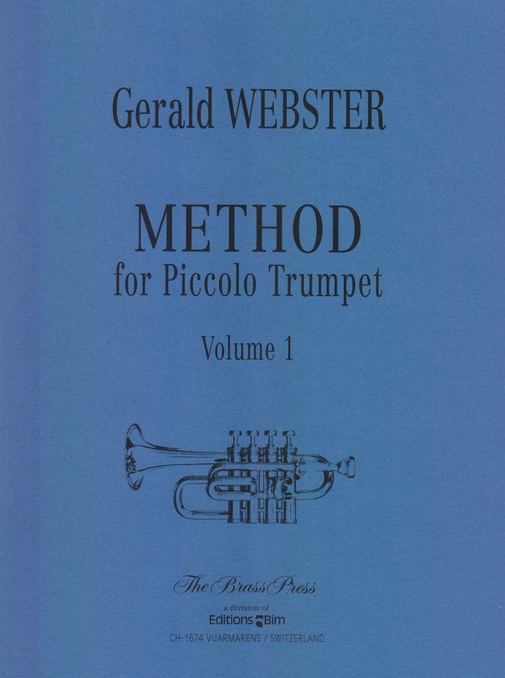 Noten METHOD FOR PICCOLO TRUMPET 1 Bachtrompete Piccolotrompete Webster