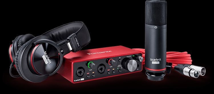 Focusrite Scarlett 2i2 Studio 3rd Gen mit Kopfhörer, Mikrofon und Kabel SET