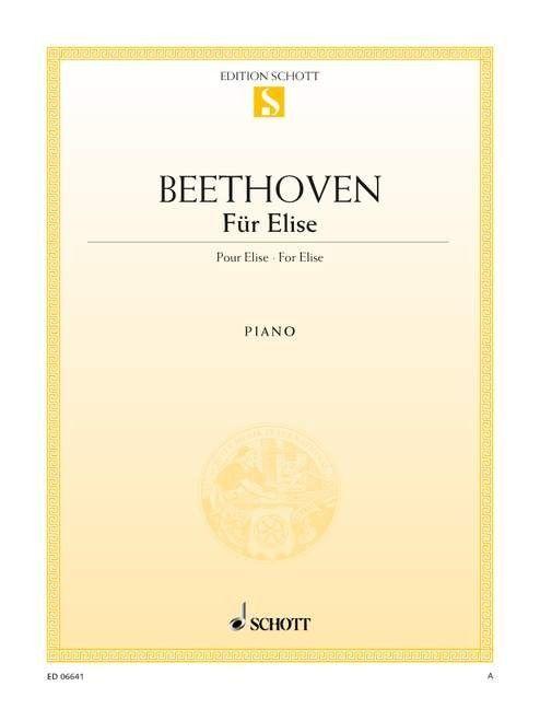 Noten Für Elise Beethoven Einzelausgabe Schott ED 06641