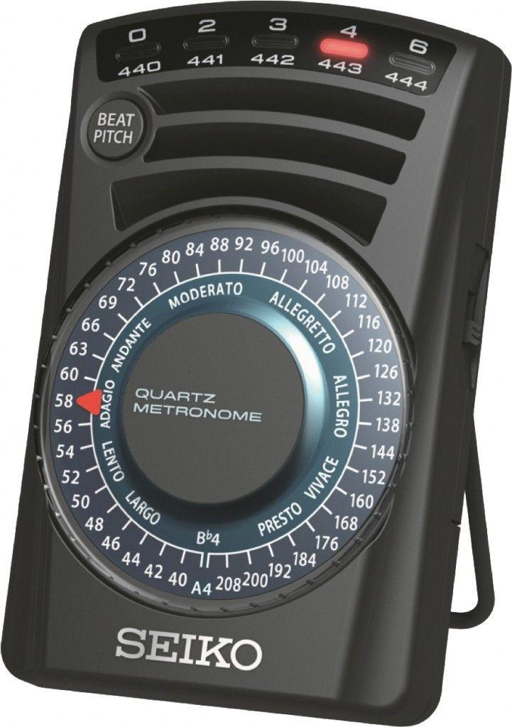 Seiko SQ-60 Quarz Metronom, Taktell mit Lichtanzeige, 2 laute Metronomtöne