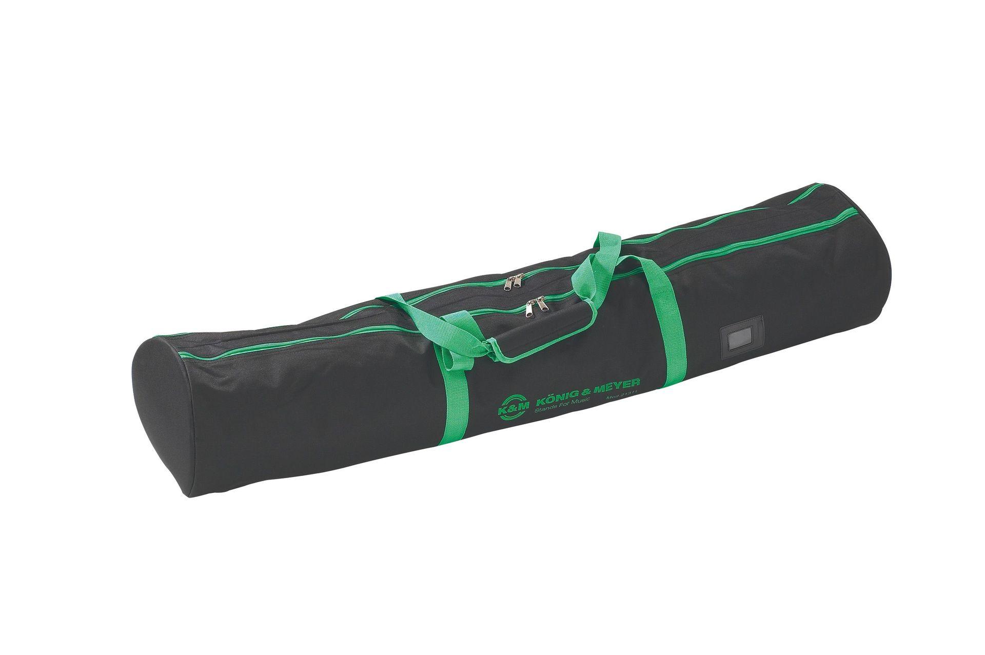 K&M 21311 Boxenstativ Tasche, Nylongewebe mit grünem K&M-Logo für 2 Stative