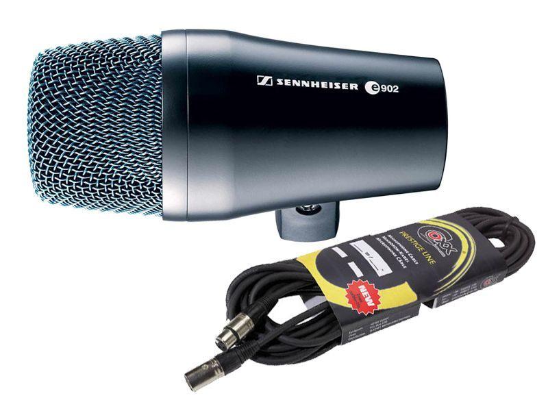Sennheiser e 902 Mikrofon-SET inkl. 10m Mikrofonkabel