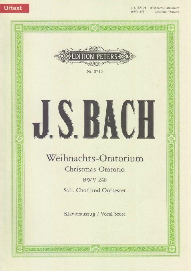 Noten Weihnachtsoratorium Klavierauszug Peters J.S. Bach EP 8719