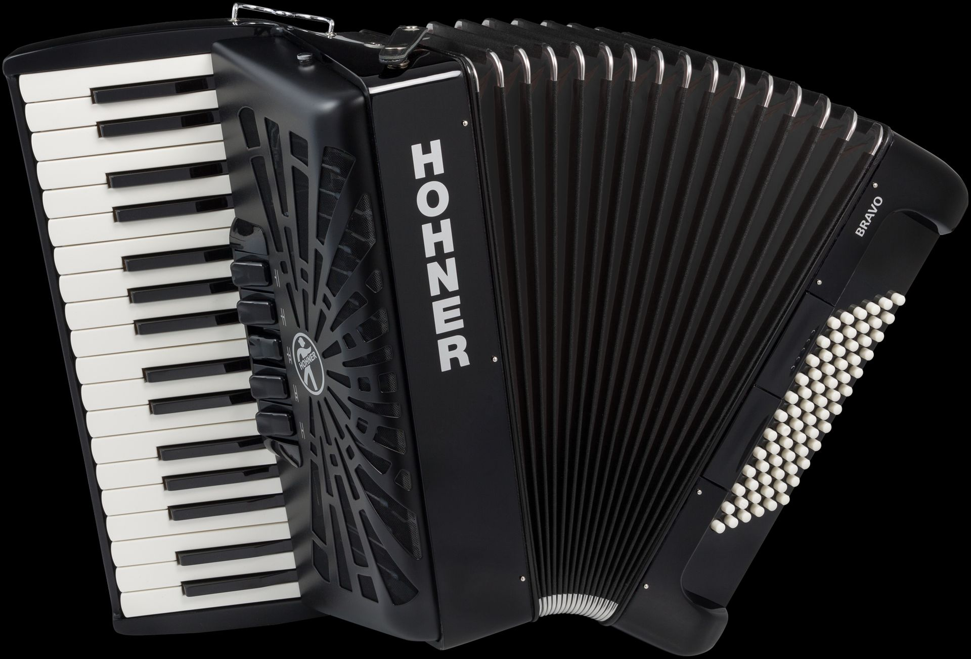 Hohner Bravo III 72 - schwarz  HOA16622  72 Bässe, Silent Key