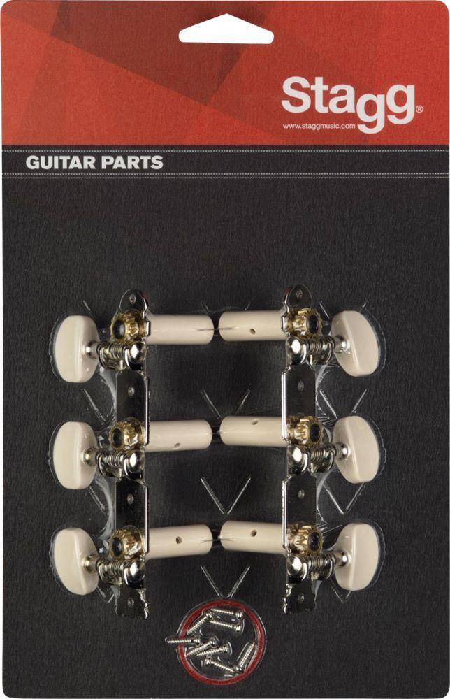 Stagg Mechanik für Konzertgitarre, chrom KG352