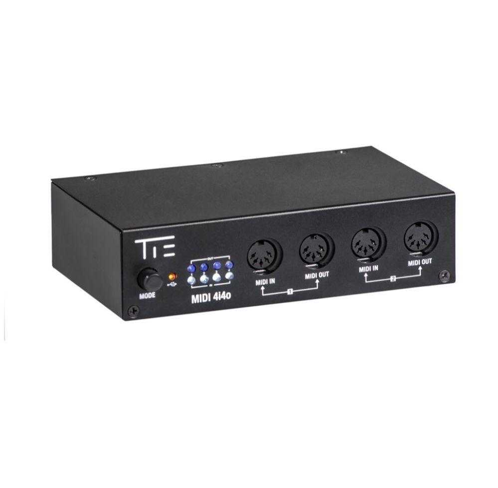 TIE USB-MIDI Interface Midi Midi 4i4o MIDI Adapter, mit Merke-Funktion
