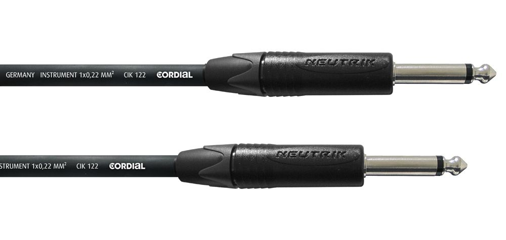 Cordial CPI 3 PP Gitarrenkabel, 6,3mm Klinke/Klinke, Neutrik, 3m , schwarz
