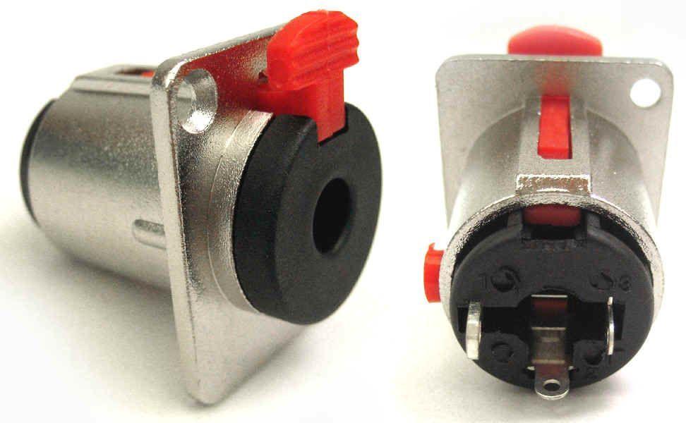 6,3mm 052H Klinkeneinbaubuchse, stereo