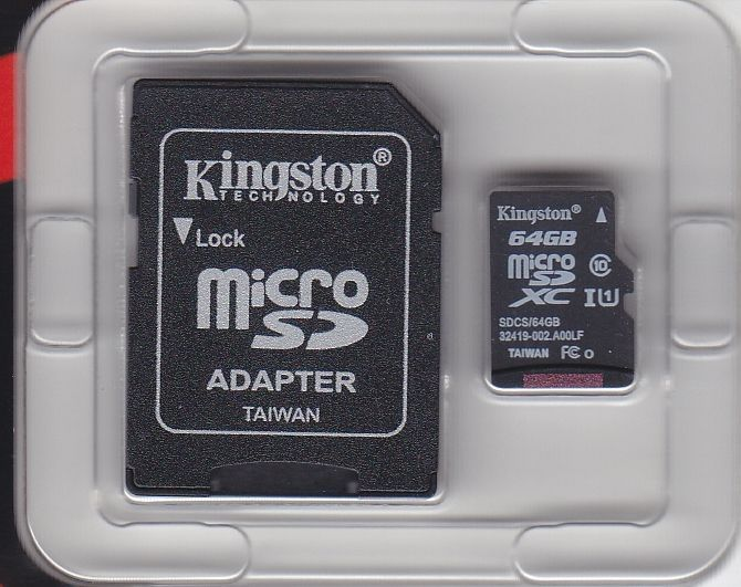 Kingston Micro SD Card 64 GB Canvas Select  inkl. SD-Adapter