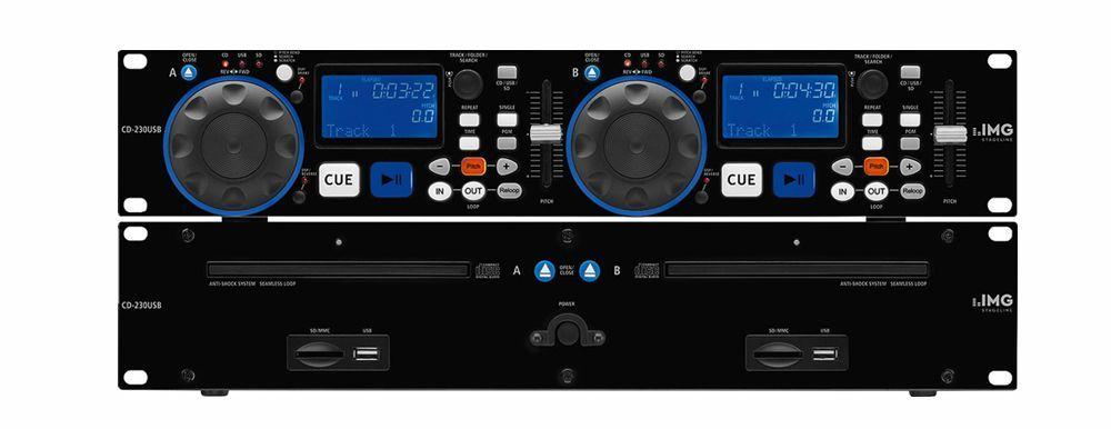 IMG Stage Line CD-230USB DJ-Dual-CD- und MP3-Spieler mit USB2.0-Schnittstelle