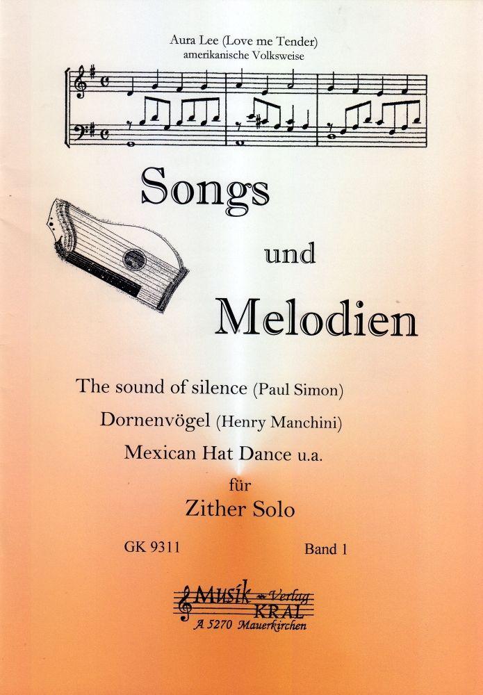 Noten für Zither Songs & Melodien international 1 GK 9311 Verlag Musik Kral