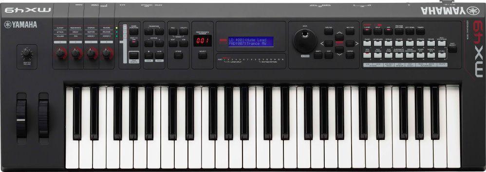 Yamaha MX-49 V2 BL schwarz, Synthesizer ,49 Tasten, über 1000 Sounds,
