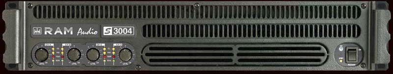 RAM Audio S 3004 Mehrkanal Endstufe 4x 500 Watt 2HE Power Amp ca. 2x 1400 Watt