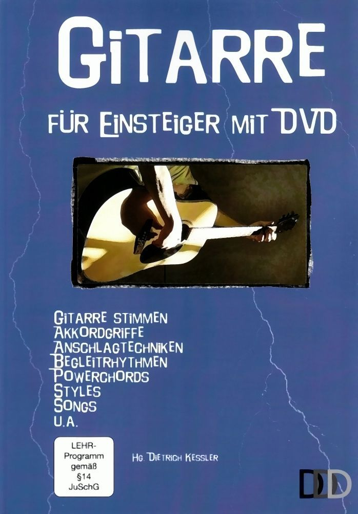 Gitarre für Einsteiger incl. DVD Gitarre stimmen Kessler DDD 3D Verlag