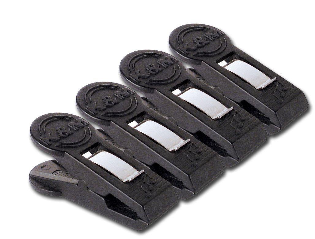 K&M 16060 Notenklammer 4er Pack, universell , weit öffnend, straffe Feder