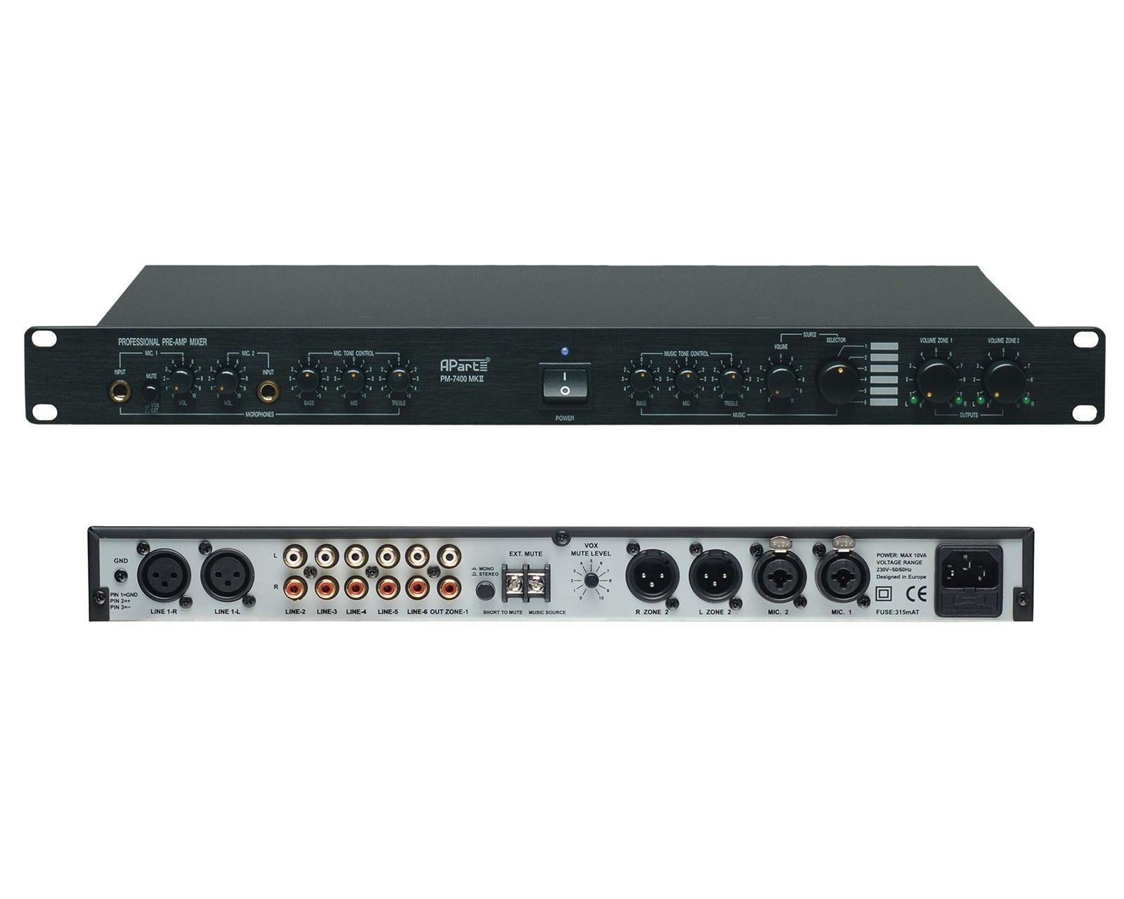 Apart PM 7400 MKll Installations-Mixer, Retoure mit leichten Gebrauchsspuren