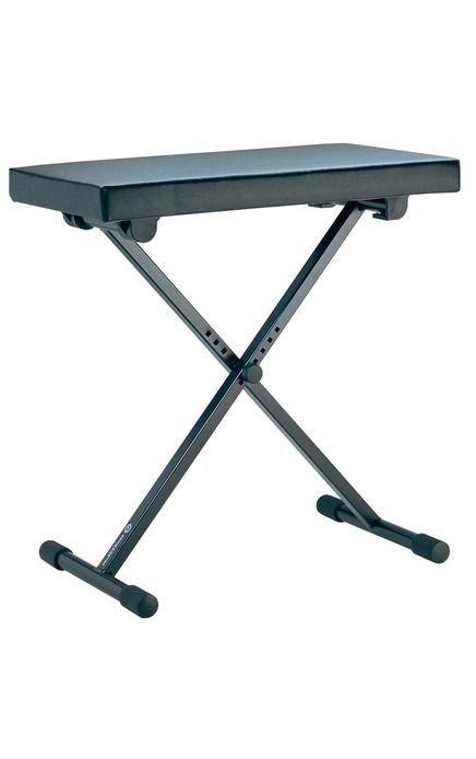 K&M 14065 Keyboardbank, 35,00 - 58,50 cm verstellbar, Kunstleder 54 x 30 cm Sitz