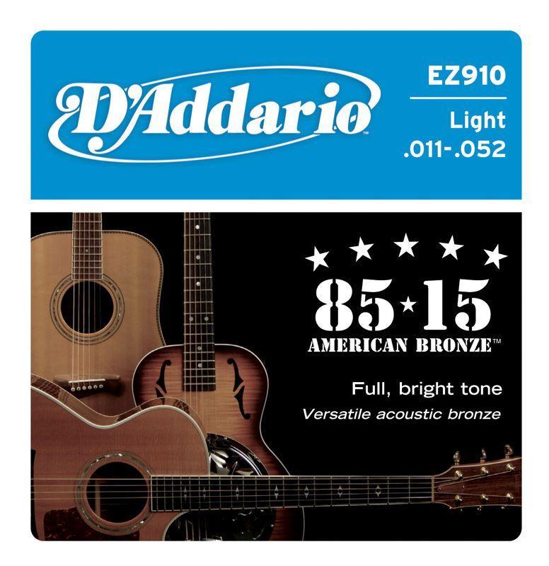 D'Addario EZ910 11-52 Akustik Saiten, 6 Strings,.011-.052