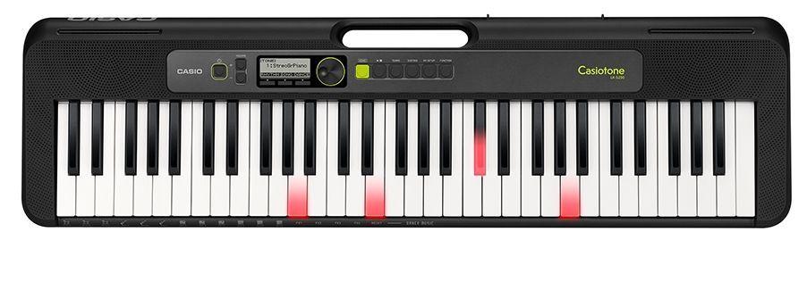 Casio LK-S250 Keyboard mit 61 Leuchttasten im Piano-Look und Lernfunktion