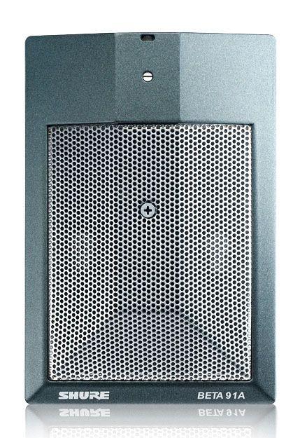 Shure BETA 91A Grenzflächenmikrofon für Bassdrum, Flügel, Klavier, Sprache