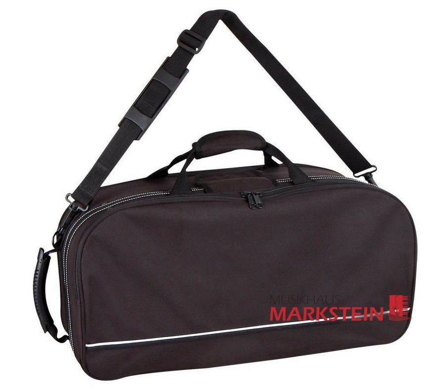 Koffer für 2 Trompeten (Perinetventile), Notenpult und Noten,