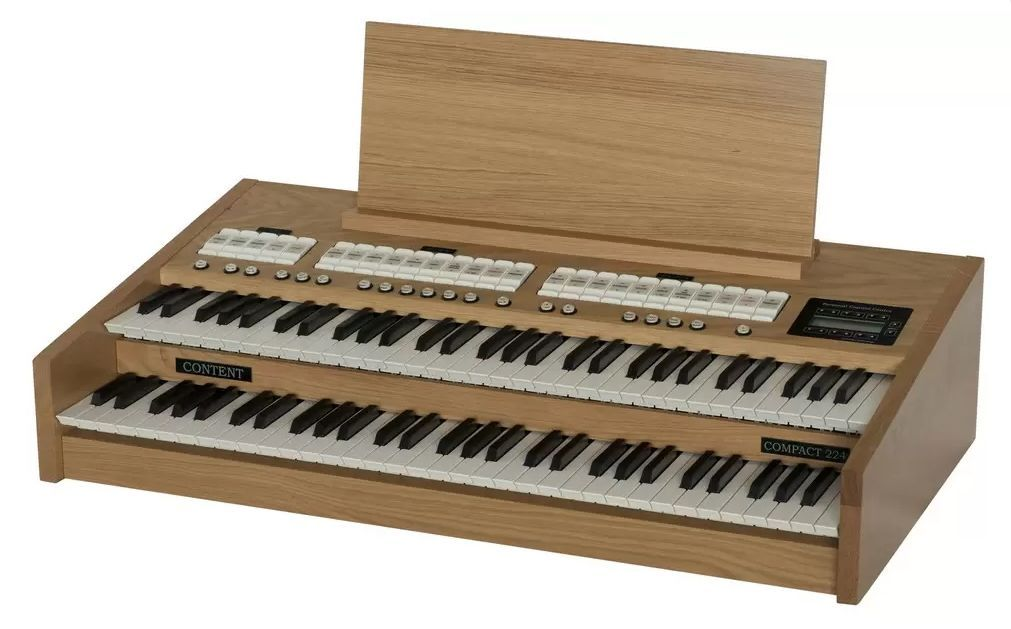 Content Compact 224 Intern- transportable Kirchenorgel, 4x24 Register, 2 Manuale