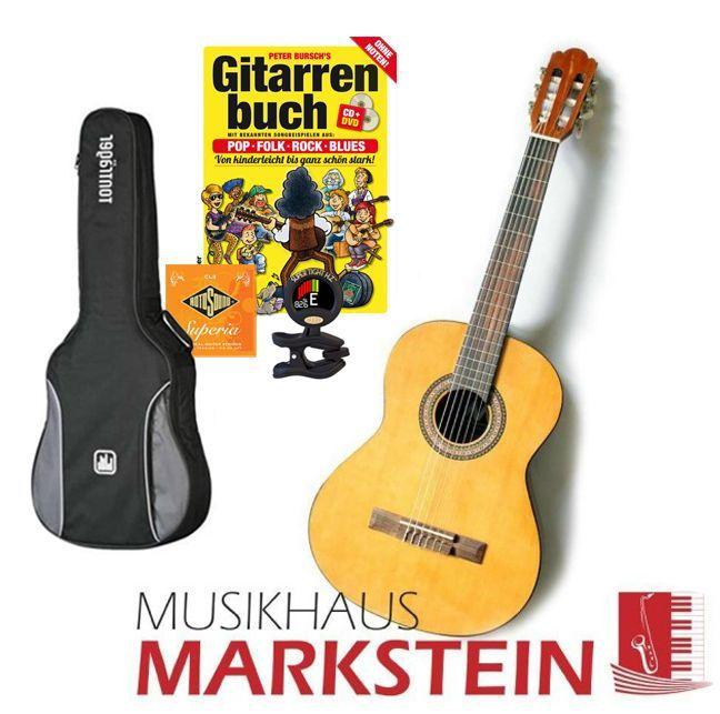 MarkGuitar Konzertgitarren SET III Paket: Gitarre lernen