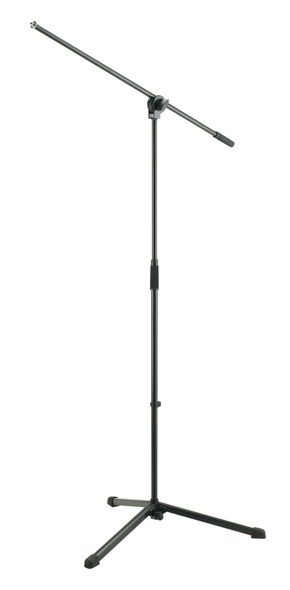 K&M 25400 Mikrofonstativ mit Galgen, einfache Ausführung, schwarz