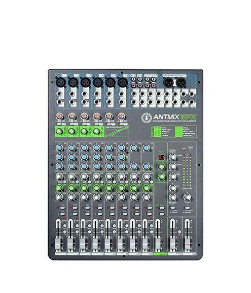 ANT ANTMIX12FX 12-Kanal Mixer mit integriertem Effektgerät und Fader