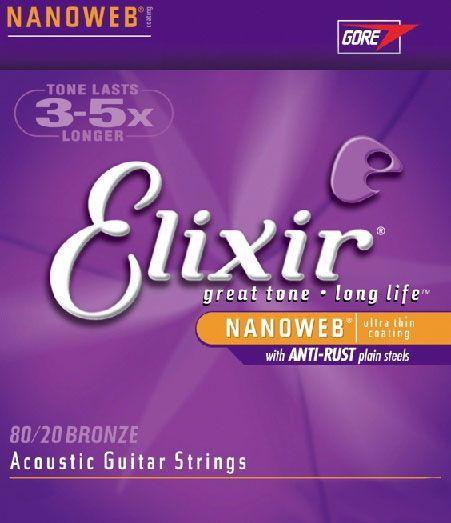 Elixir Akustik-Saiten  Bronze Anti Rust Nanoweb, 6-String .011-.052