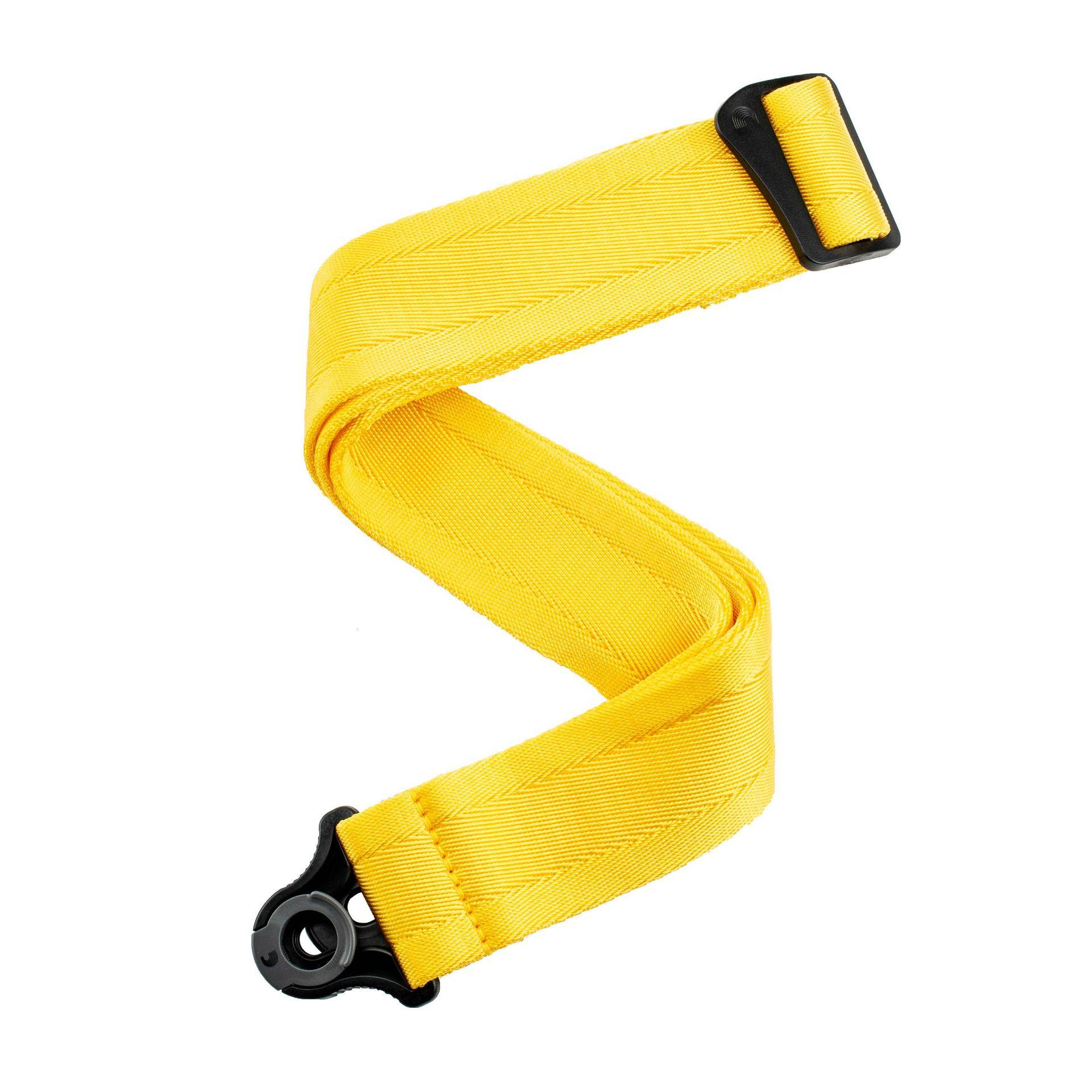D'Addario Auto Lock Guitar Strap Mellow Yellow 50BAL07