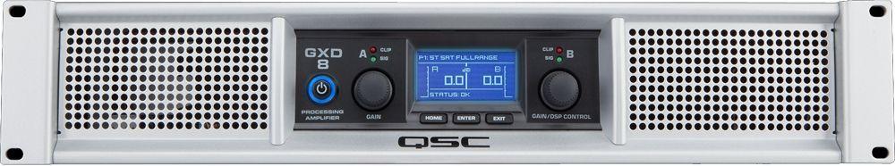QSC GXD 8 Endstufe mit DSP 2x 1200 Watt / 4 Ohm Power Amp bis 4500W Peak