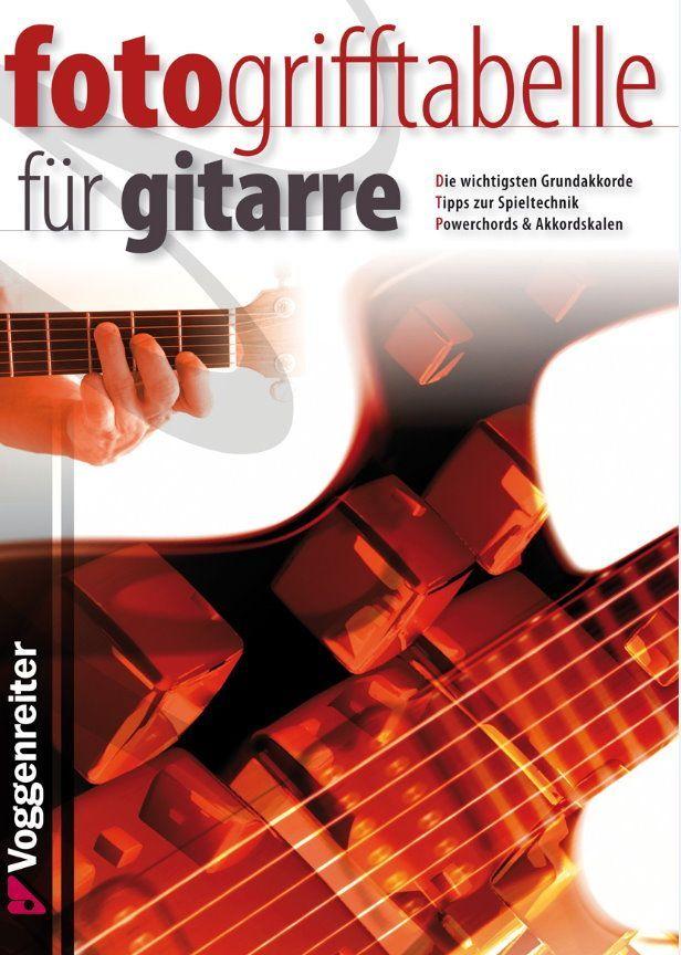 Noten Fotogrifftabelle für Gitarre A5 Voggenreiter 683