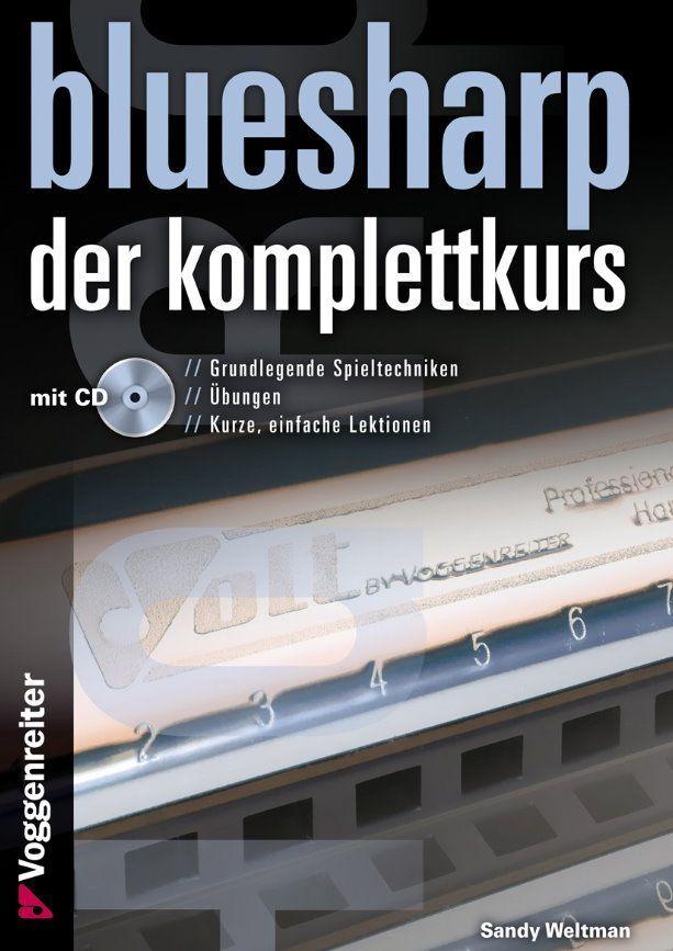 Noten Blues Harp Der Komplettkurs incl. CD A5 Spiralbindung Voggenreiter 979