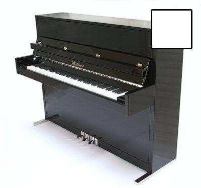 Blüthner Modell D Klavier, 116 cm, weiß poliert