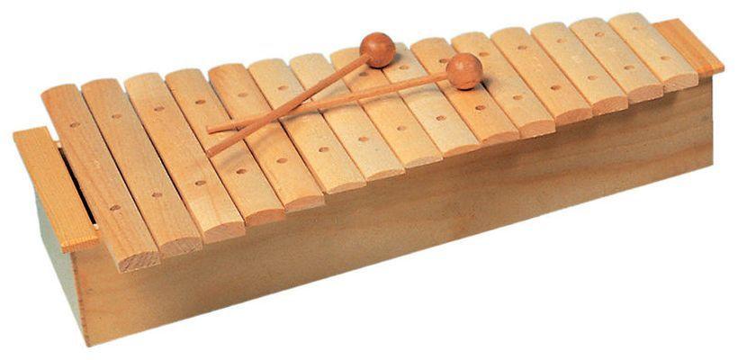 Goldon 11220 Xylophon Klangplatten aus Ahornholz Resonanzkasten
