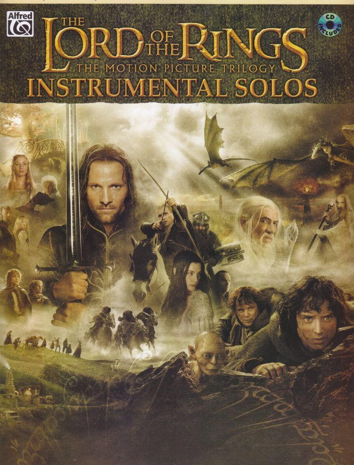 Noten Herr der Ringe Lord of the rings incl. CD Querflöte & Klavier Alfred