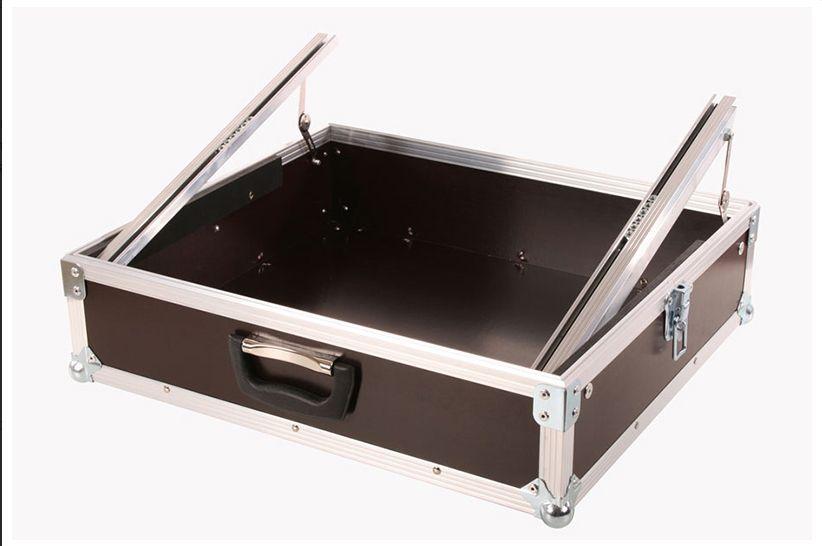 """MHM 19"""" Rack Mixer Koffer mit 10 HE Einbautiefe 12cm ab Rackschiene"""