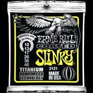 Ernie Ball EB-3121 E-Gitarren Saiten,Coated Slinky Titanium .010-.046