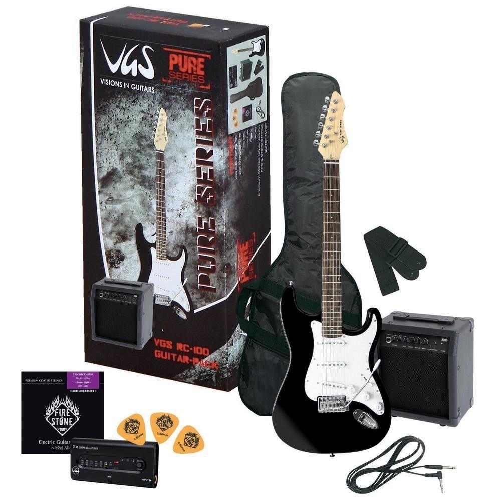VGS-RC-100 Guitar Pack  , Einsteigerpaket: E-Guitar schwarz, Amp + Zubehör
