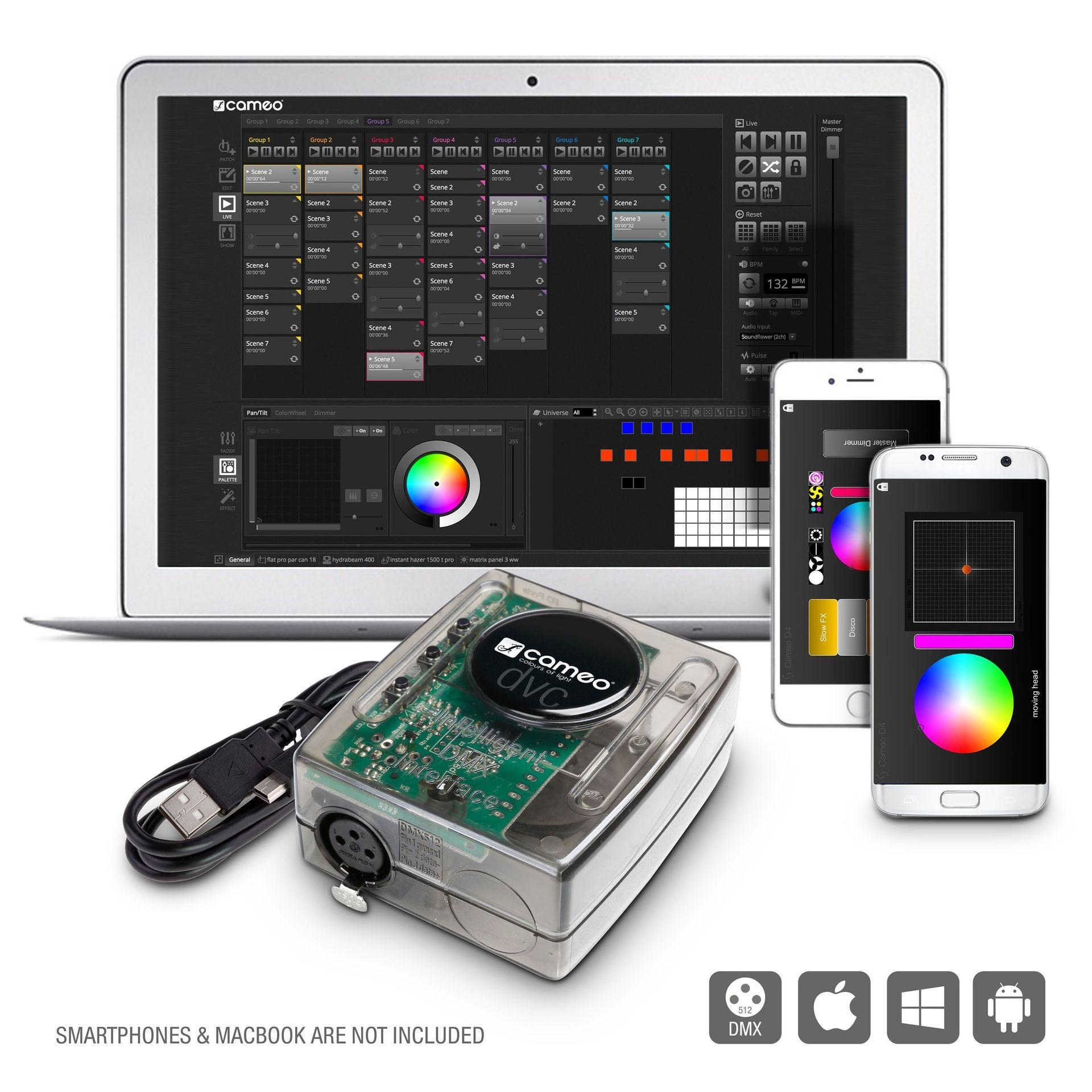 Cameo DVC4 512-Kanal USB zu DMX-Interface und Steuersoftware