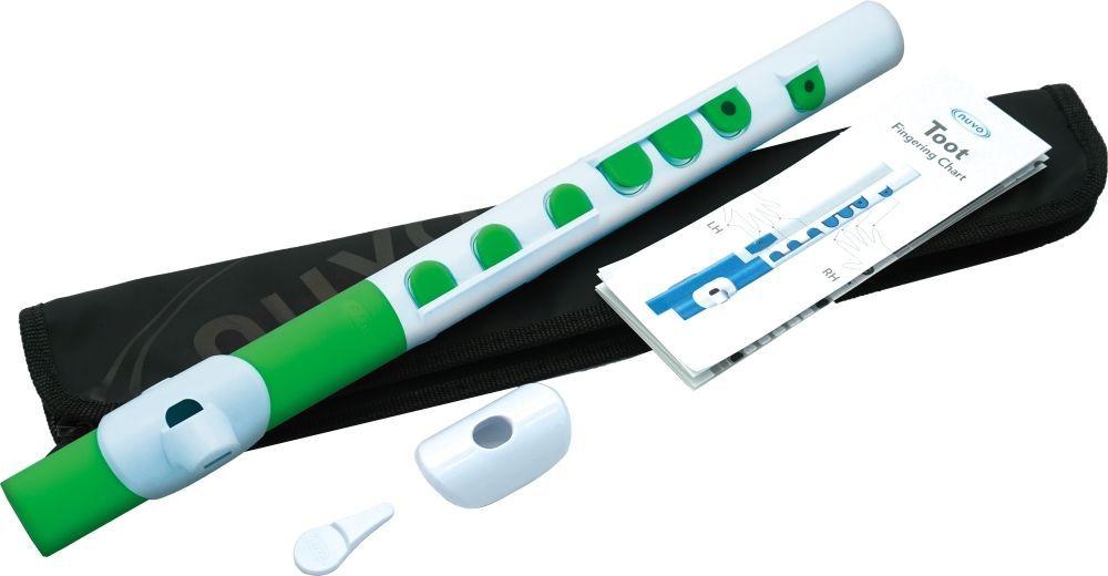 Kinder-Querflöte NUVO TOOT 2.0 weiß-grün, für Kinder ab 4 Jahren
