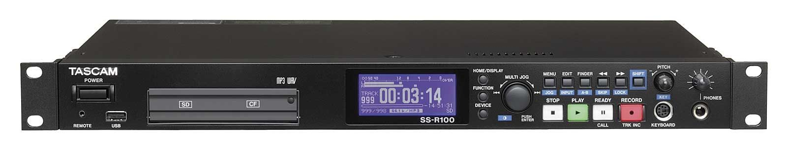 """Tascam SS-R100 Solid-State-Audiorecorder, 19"""" 1 HE Stereorecorder"""