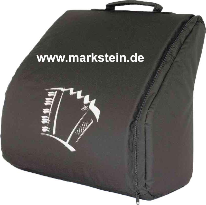 Weltmeister Akkordeon 72 Bass Rucksack-Gigbag schwarz, Achat , Opal