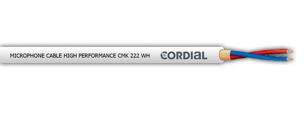 Cordial CMK 222 WH Mikrofonkabel NF-Kabel, symmetrisch, Meterware Farbe: weiß