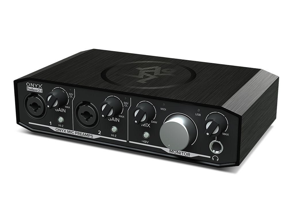 Mackie Onyx Producer 2x2 Audio Interface 2-Kanal mit 2 Mikrofon-/Line-Eingängen
