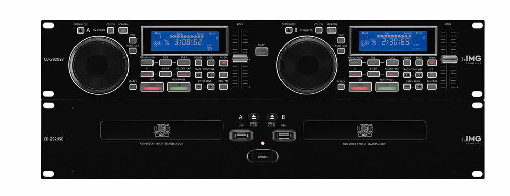 IMG Stage Line CD-292USB Professioneller DJ-Dual-CD- und MP3-Spieler mit USB2.0