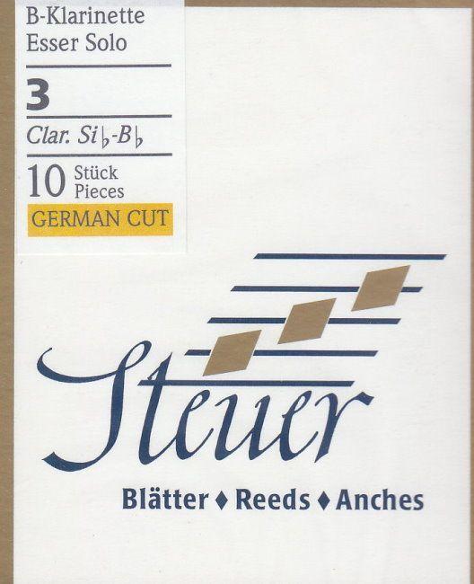 Steuer Blatt B-Klarinette deutsch Solo 3,0 White Line