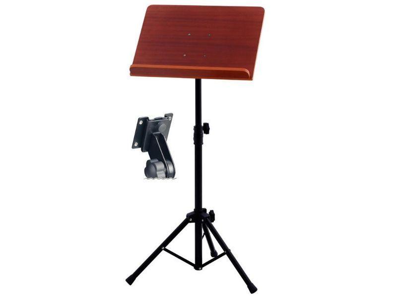 Markstein Orchesternotenpult MHO, abnehmbare Nussbaum-Holzauflage, H: 78-130cm